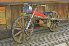 Wooden motor scooter Royalty Free Stock Image