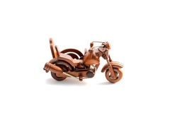 Wooden motor tricycle Stock Photo