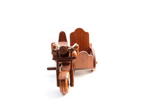 Wooden motor tricycle Royalty Free Stock Image