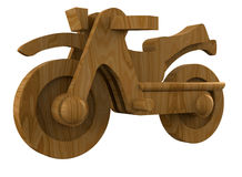 Wooden motorcycle Royalty Free Stock Photos