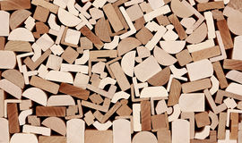 Wooden moulings, Stack. Royalty Free Stock Photos