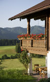 Wooden mountain house. In summer time Royalty Free Stock Images