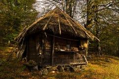 Wooden mountain hut at sunny autumn day, Radocelo mountain Stock Photography