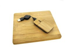 Wooden Mouse And Mousepad Stock Photography