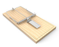 Wooden mouse trap Royalty Free Stock Images