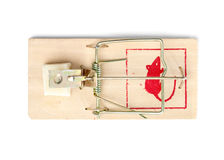 Mouse Trap on White Background Stock Photography