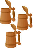 Wooden mug Royalty Free Stock Images