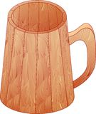 The wooden mug Royalty Free Stock Images