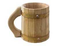 Wooden mug Stock Photo