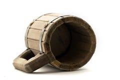 Wooden mug royalty free stock image