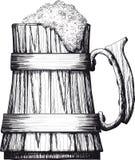 Wooden mug of beer Royalty Free Stock Photos