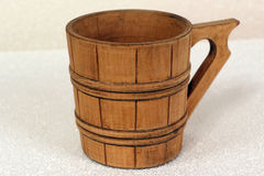 Wooden mug for beer Stock Photos