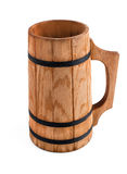 Wooden mug with beer Royalty Free Stock Photography