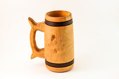 Wooden mug Stock Images