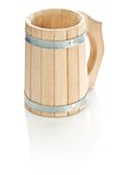 Wooden mug isolated Royalty Free Stock Images
