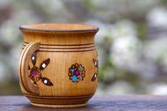 Wooden mug Royalty Free Stock Photo
