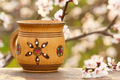 Wooden mug Stock Image