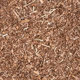 Wooden mulch ground fragment Stock Images