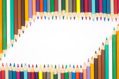 Wooden multiple colors pencils Stock Photo