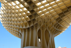 Wooden Mushroom. Metropol Parasol is a wooden building placed in La Encarnación square, in the old quarter of Seville, Spain. It was designed by the German Stock Photography