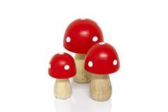 Wooden mushrooms Stock Photo