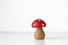 Wooden mushrooms toy Stock Image