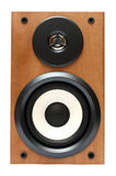 Wooden music speaker Royalty Free Stock Images