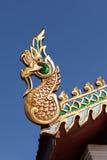 Wooden Naga head Stock Photography