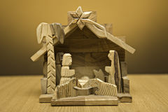 Wooden nativity Royalty Free Stock Images