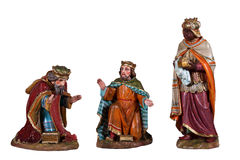 Wooden nativity scene Stock Image