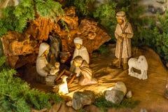 Wooden Nativity Scene Set Royalty Free Stock Image