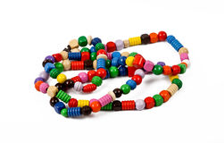 Wooden necklace Stock Images