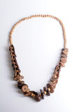 Wooden necklace Stock Photography