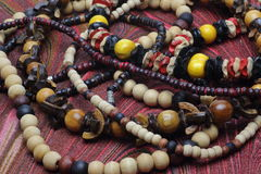 Wooden Necklaces Stock Images