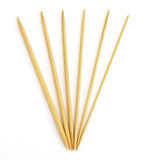 Wooden needles in assorted sizes Royalty Free Stock Image