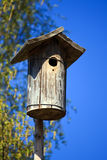 Wooden nest house Stock Photo