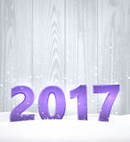 Wooden 2017 New Year background. Lilac wooden 2017 New Year background. Vector illustration Royalty Free Stock Images
