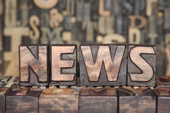 Wooden NEWS  concept Royalty Free Stock Photography