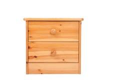 Wooden nightstand Stock Images