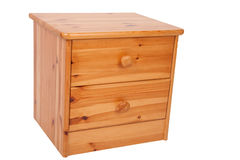 Wooden nightstand Stock Photo