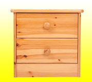 Wooden nightstand Stock Photo