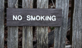 Wooden no smoking sign Stock Images