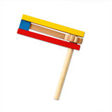 Wooden noisemaker or gragger for purim celebration holiday (jewish holiday).  royalty free stock photos
