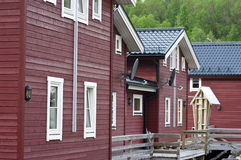 Wooden Norwegian houses Royalty Free Stock Photos