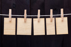 Wooden notes Royalty Free Stock Photo