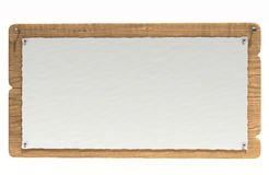 Wooden notice board Stock Photography