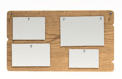 Wooden notice board Stock Photos
