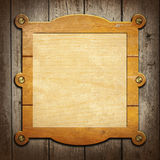 Wooden notice board Royalty Free Stock Photos