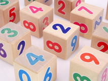 Wooden number blocks Stock Photography