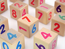Wooden number blocks Royalty Free Stock Photography